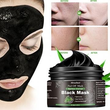Maschera Nera, Black Mask, Maschera di comedone, Blackhead Remover Black Mask, Facciale Cura Strappando Stile Pulizia Profonda Pulizia Rimozione Di Comedone Maschera (120ML) - 5