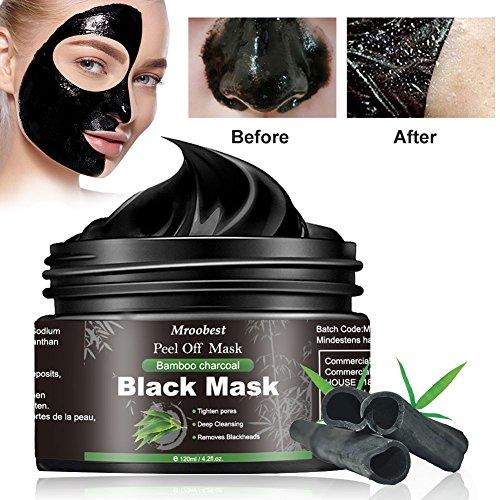 Maschera Nera, Black Mask, Maschera di comedone, Blackhead Remover Black Mask, Facciale Cura Strappando Stile Pulizia Profonda Pulizia Rimozione Di Comedone Maschera (120ML) - 1