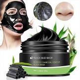 Maschere Esfolianti e Detergenti,Maschera Viso, Blackhead Mask Peel Off,Black Mask,Maschera Nera, fango pulizia profonda dei pori crema per pelle pulita – rimozione acne naso e viso,120g - 1