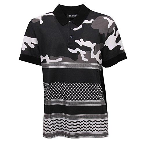 NEIL BARRET C7186 polo maglia uomo nero t-shirt men [XL] - 1
