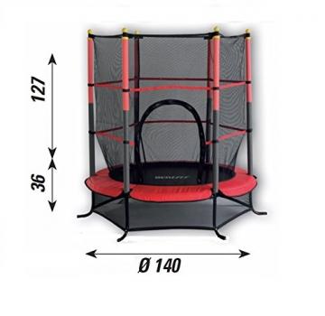 New Plast 1389 - Tappeto Elastico con Rete Protettiva, Diametro 140 cm - 2