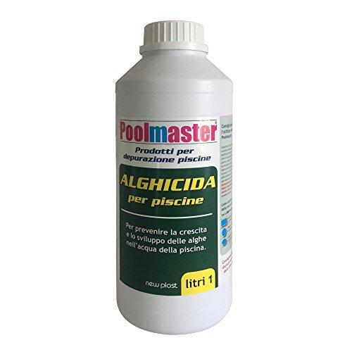 New Plast 2918 - Alghicida Doppia Funzione per Acqua Piscina, Flacone 1 lt - 1