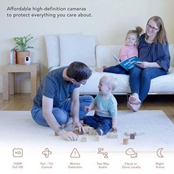 Nooie FHD 1080P Telecamera di Sorveglianza WiFi,videocamera IP Interno Wireless con Visione Notturna,Camera Videocamera WiFi 360°,Baby/Pet Monitor Audio Bidirezionale, Sensore di Movimento - 2