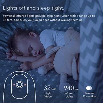 Nooie FHD 1080P Telecamera di Sorveglianza WiFi,videocamera IP Interno Wireless con Visione Notturna,Camera Videocamera WiFi 360°,Baby/Pet Monitor Audio Bidirezionale, Sensore di Movimento - 3