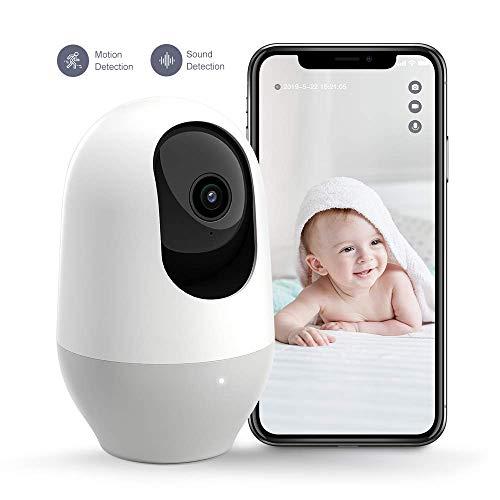 Nooie FHD 1080P Telecamera di Sorveglianza WiFi,videocamera IP Interno Wireless con Visione Notturna,Camera Videocamera WiFi 360°,Baby/Pet Monitor Audio Bidirezionale, Sensore di Movimento - 1