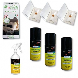 Nuisipro - Kit insetticida completo, trattamento anti-cimici da letto, azione shock e preventiva - 1