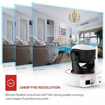 [ Nuova versione ] Victure Telecamera IP WiFi Interno 1080P,Videocamera di Sorveglianza Wireless FHD con Sensore di Movimento, Visione Notturna,Audio Bidirezionale - 2