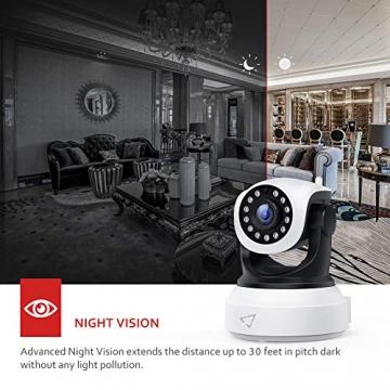 [ Nuova versione ] Victure Telecamera IP WiFi Interno 1080P,Videocamera di Sorveglianza Wireless FHD con Sensore di Movimento, Visione Notturna,Audio Bidirezionale - 3