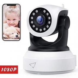 [ Nuova versione ] Victure Telecamera IP WiFi Interno 1080P,Videocamera di Sorveglianza Wireless FHD con Sensore di Movimento, Visione Notturna,Audio Bidirezionale - 1