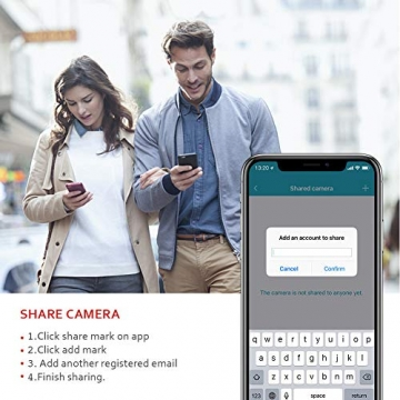 [ Nuova versione ] Victure Telecamera IP WiFi Interno 1080P,Videocamera di Sorveglianza Wireless FHD con Sensore di Movimento, Visione Notturna,Audio Bidirezionale - 7
