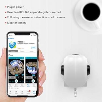 [ Nuova versione ] Victure Telecamera IP WiFi Interno 1080P,Videocamera di Sorveglianza Wireless FHD con Sensore di Movimento, Visione Notturna,Audio Bidirezionale - 8