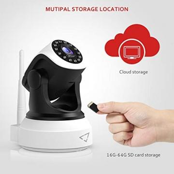 [ Nuova versione ] Victure Telecamera IP WiFi Interno 1080P,Videocamera di Sorveglianza Wireless FHD con Sensore di Movimento, Visione Notturna,Audio Bidirezionale - 9