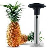 Pelapatate e Fette di ananas, TKSTAR Coltello di ananas, Pineapple Corer Slicer Stem Remover con lame in acciaio inossidabile - 1