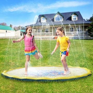 PELLOR Bambini Gioco Acqua, Spruzzi e Splash Tappeto Gioco d'Acqua da Giardino, Gioco da Giardino & Piscina all'aperto per Neonati e Bambini Piccoli - 1