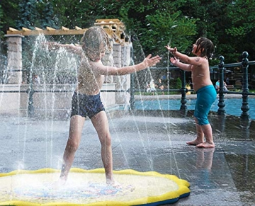 PELLOR Bambini Gioco Acqua, Spruzzi e Splash Tappeto Gioco d'Acqua da Giardino, Gioco da Giardino & Piscina all'aperto per Neonati e Bambini Piccoli - 5