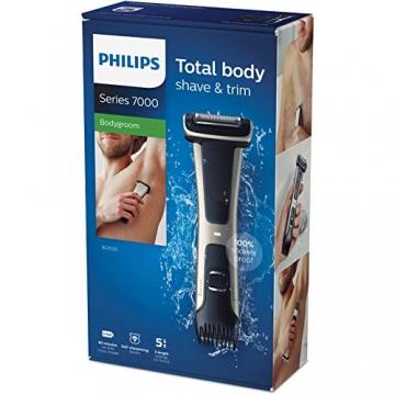 Philips BG7025/15 Bodygroom 7000 Depilatore Corpo da Uomo, Wet&Dry, Pettini Regolabili 3-11 mm, Testina 4D, Autonomia fino a 80 min - 7