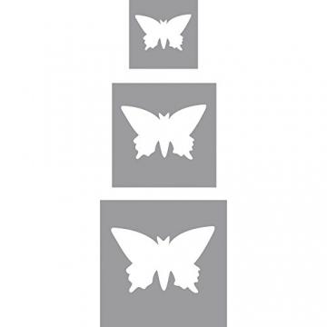 Rayher 69104000 set perforatrici decorativi fustella metallo farfalle 3 misure diverse 1.95X 1.9x 0.6cm grande medio piccolo confezione da 3 pezzi scapbooking etichette biglietti colore arancione - 2