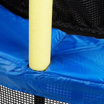 Relaxdays 10020804, Trampolino da Esterno con Tappeto Elastico per Bambini, Rete di Protezione Unisex, Nero/Giallo/Blu, 172 x 143 x 143 cm - 4