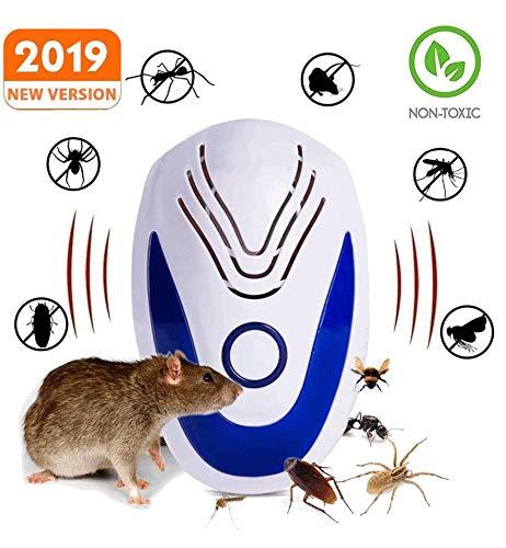 Repellente Ultrasuoni 2019-repellente topi ed insetti ad ultrasuoni-repellente antizanzare-Contro:Ratti-Ragni-Formiche-Scarafaggi-Zanzare-Topi-Blatte-Cimici-Nuova versione-Raggio di azione 360° - 1