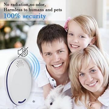 Repellente Ultrasuoni, Non Tossico & Sicuro per l'ambiente per Umani e Animali Domestici Perfetti, Repeller Parassiti ad Ultrasuoni Repellente per Repeller Control, Mouse, Insetti(2 Pezzi, Bianco) - 3