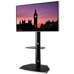 """RFIVER Mobile Porta TV da Pavimento Angolo 3-in-1 Supporto TV con Girevole Regolabile in Altezza per TV LCD LED Plasma da 27""""-55"""" Nero TF7001 - 1"""