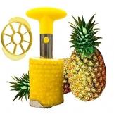 SameTech Strumento per sbucciare ananas e per rimuoverne il torsolo, in acciaio INOX, strumento per la cucina facile da usare - 1