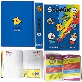 Scomix - Agenda/Diario Scolastico Datato Scuola 2019-20 Dimensioni 17x13 cm Circa - Pagine in Lingua Italiana Copertina Rigida - 1