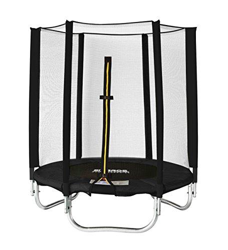 SixBros. SixJump 1,40 M Ø Trampolino Elastico da Giardino Trampolino Nero - T140/1833 | con Rete di Sicurezza - 1