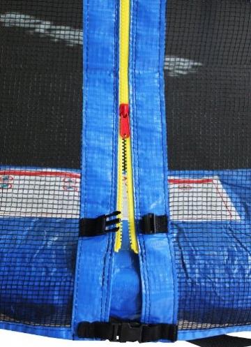 SixBros. SixJump 2,45 M Trampolino Elastico da Giardino Blu - Scaletta - Rete di Sicurezza - Copertura Anti-Pioggia - TB245/1609 - 2