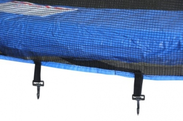 SixBros. SixJump 2,45 M Trampolino Elastico da Giardino Blu - Scaletta - Rete di Sicurezza - Copertura Anti-Pioggia - TB245/1609 - 3