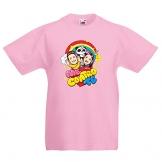 T-Shirt Rosa Me Contro Te Maglietta Cotone 100% Bambino Bambina t Shirt sofì e luì (7-8 Anni) - 1