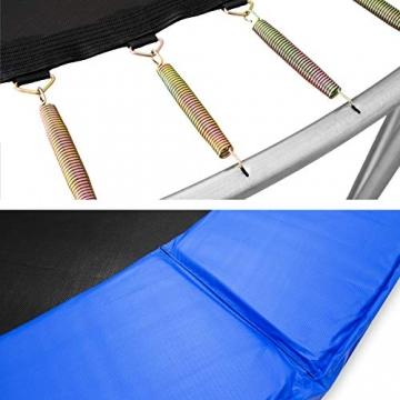 TecTake Trampolino Elastico da Giardino Set con Rete di Protezione E SCALETTA - Disponibili in Diverse Misure - (Ø 305cm) - 3