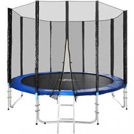 TecTake Trampolino Elastico da Giardino Set con Rete di Protezione E SCALETTA - Disponibili in Diverse Misure - (Ø 305cm) - 1