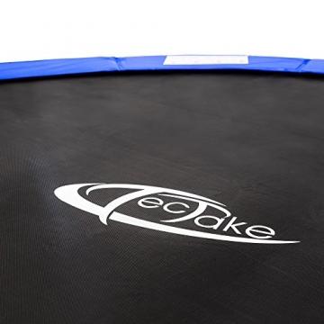 TecTake Trampolino Elastico da Giardino Set con Rete di Protezione E SCALETTA - Disponibili in Diverse Misure - (Ø 305cm) - 4