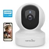 Telecamera di Sorveglianza WiFi, Wansview FHD 1080P Videocamera IP WiFi Interno con Audio Bidirezionale e Compatibile con Alexa, Notifiche in Tempo Reale-Q5 Bianco - 1