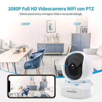Telecamera di Sorveglianza WiFi, Wansview FHD 1080P Videocamera IP WiFi Interno con Audio Bidirezionale e Compatibile con Alexa, Notifiche in Tempo Reale-Q5 Bianco - 3
