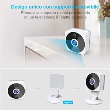 Telecamera Wi-fi Interno 1080P, NIYPS Full HD senza fili Videocamera Sorveglianza con Visione Notturna, Audio Bidirezionale e Sensore di Movimento Telecamera IP Cloud per Baby Monitor... - 2