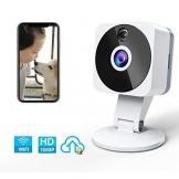 Telecamera Wi-fi Interno 1080P, NIYPS Full HD senza fili Videocamera Sorveglianza con Visione Notturna, Audio Bidirezionale e Sensore di Movimento Telecamera IP Cloud per Baby Monitor... - 1