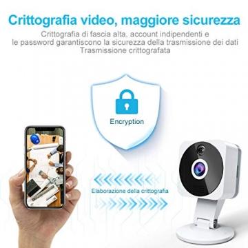 Telecamera Wi-fi Interno 1080P, NIYPS Full HD senza fili Videocamera Sorveglianza con Visione Notturna, Audio Bidirezionale e Sensore di Movimento Telecamera IP Cloud per Baby Monitor... - 3