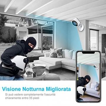 Telecamera Wi-fi Interno 1080P, NIYPS Full HD senza fili Videocamera Sorveglianza con Visione Notturna, Audio Bidirezionale e Sensore di Movimento Telecamera IP Cloud per Baby Monitor... - 5