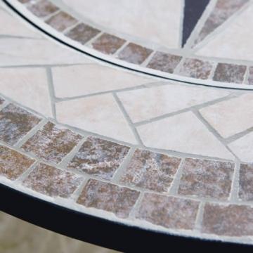 Trueshopping - Tavolino rotondo da giardino con braciere integrato Beacon Star, con griglia per barbecue, rete di protezione e copertura anti-intemperie, diametro 76,2 cm - 5
