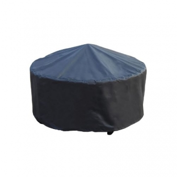 Trueshopping - Tavolino rotondo da giardino con braciere integrato Beacon Star, con griglia per barbecue, rete di protezione e copertura anti-intemperie, diametro 76,2 cm - 6