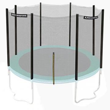 Ultrasport Rete di Sicurezza per Trampolino da Giardino Jumper Wave, Verde, 251 – 430 cm, 430 cm - 1