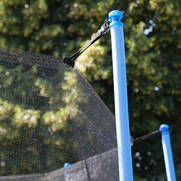 Ultrasport Rete di Sicurezza per Trampolino da Giardino Jumper Wave, Verde, 251 – 430 cm, 430 cm - 6