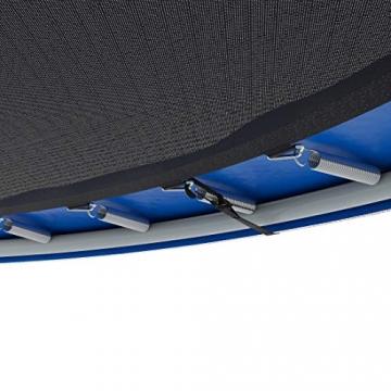 Ultrasport Trampolino da giardino Jumper, set trampolino per Il Salto inclusi tappeto elastico, rete di sicurezza, pali della rete imbottiti e rivestimento dei bordi, fina a 160kg, Blu, Ø 305 cm - 6