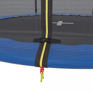 Ultrasport Trampolino da giardino Jumper, set trampolino per Il Salto inclusi tappeto elastico, rete di sicurezza, pali della rete imbottiti e rivestimento dei bordi, fina a 160kg, Blu, Ø 305 cm - 7