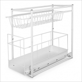 Under Sink Storage Rack Kitchen Unit Bathroom Cupboard Tidy 2 Tier Organiser by TP-Products - 1