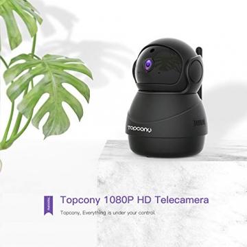 [Versione Aggiornata] Topcony 1080P HD Telecamera IP di videosorveglianza con Wi-Fi, telecamera wifi interno, IP camera connessione WiFi stabile, Two-Ways Audio di antirumore, Motion Detection - 2