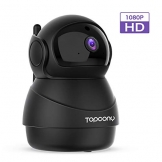 [Versione Aggiornata] Topcony 1080P HD Telecamera IP di videosorveglianza con Wi-Fi, telecamera wifi interno, IP camera connessione WiFi stabile, Two-Ways Audio di antirumore, Motion Detection - 1