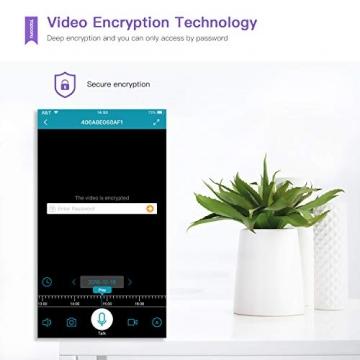 [Versione Aggiornata] Topcony 1080P HD Telecamera IP di videosorveglianza con Wi-Fi, telecamera wifi interno, IP camera connessione WiFi stabile, Two-Ways Audio di antirumore, Motion Detection - 5